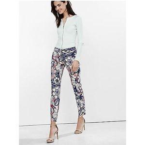 Express floral columnist pants